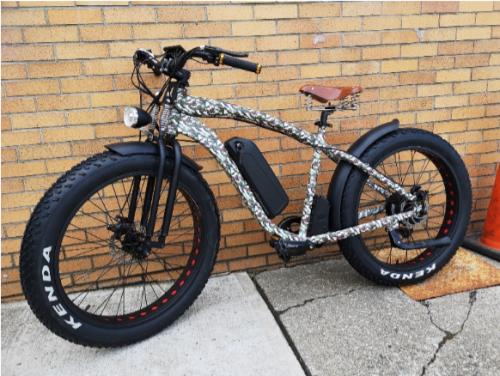 Rambo Electric Bike with Trailer -great for hunting and fishing